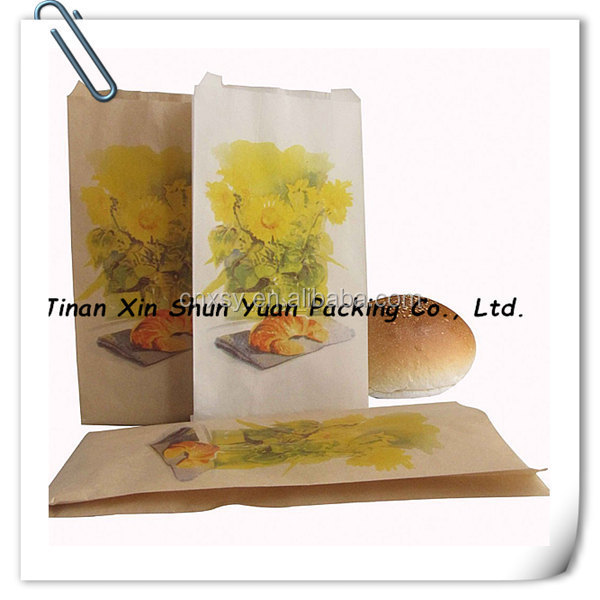 Accept custom paper bag, Bread packing paper bag manufacture