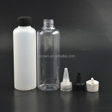 8oz 30 oz Round Cylinder HDPE Plastic Bottle with Screw-On Lids