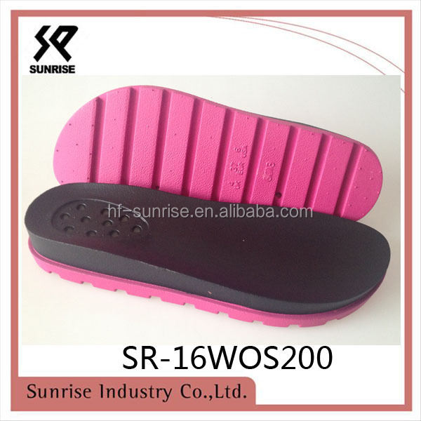 2017 thick ladies fancy pvc sandals sole