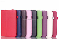 Colorful leather case with card slot flip case for Lenovo A3500