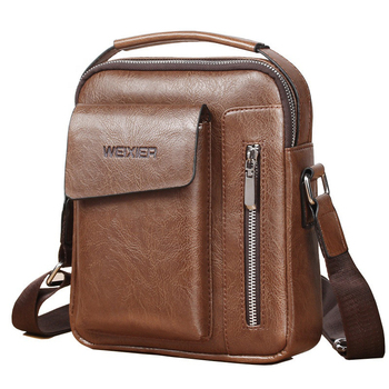 Fashion Business Casual Men shoulder Bags waterproof PU leather Crossbody messenger bag