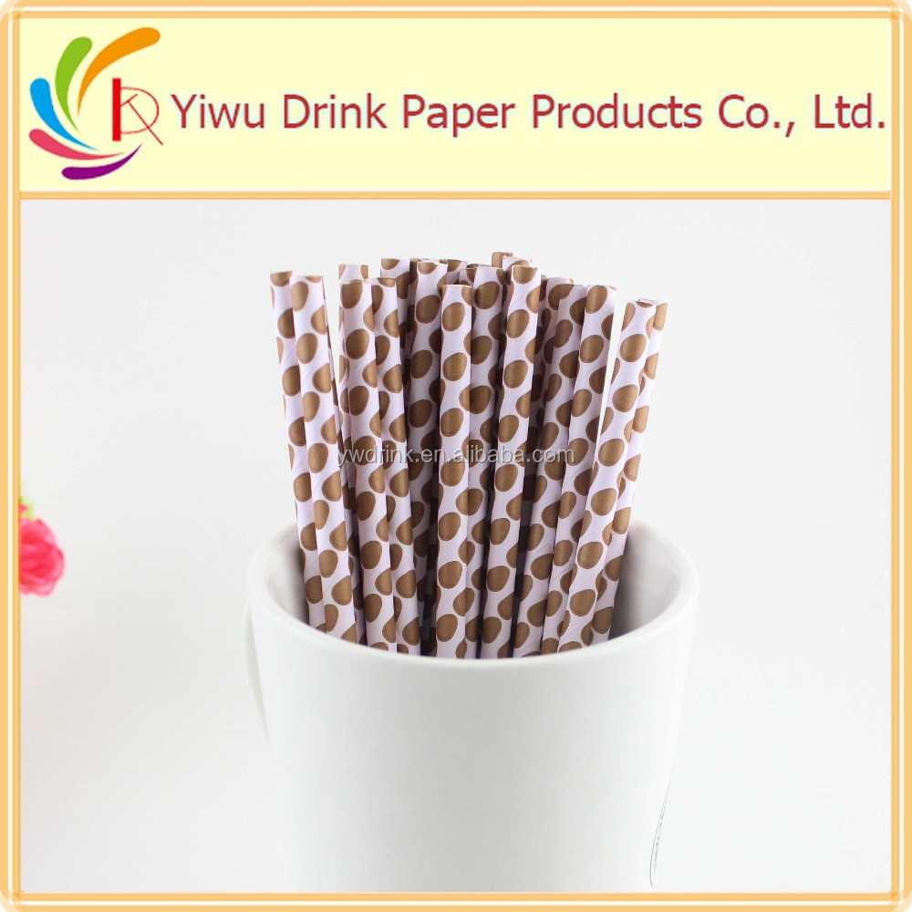 Easter day gifts dotted striped paper drinking straw