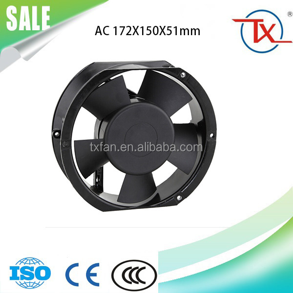 AC Tube Fan 172mm x 150mm x 51mm 6.8 Inch Cooling 17251 AC Ventilation Fan