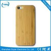 free sample hot selling blank wood protective shell phone cover case for iphone 5 SE