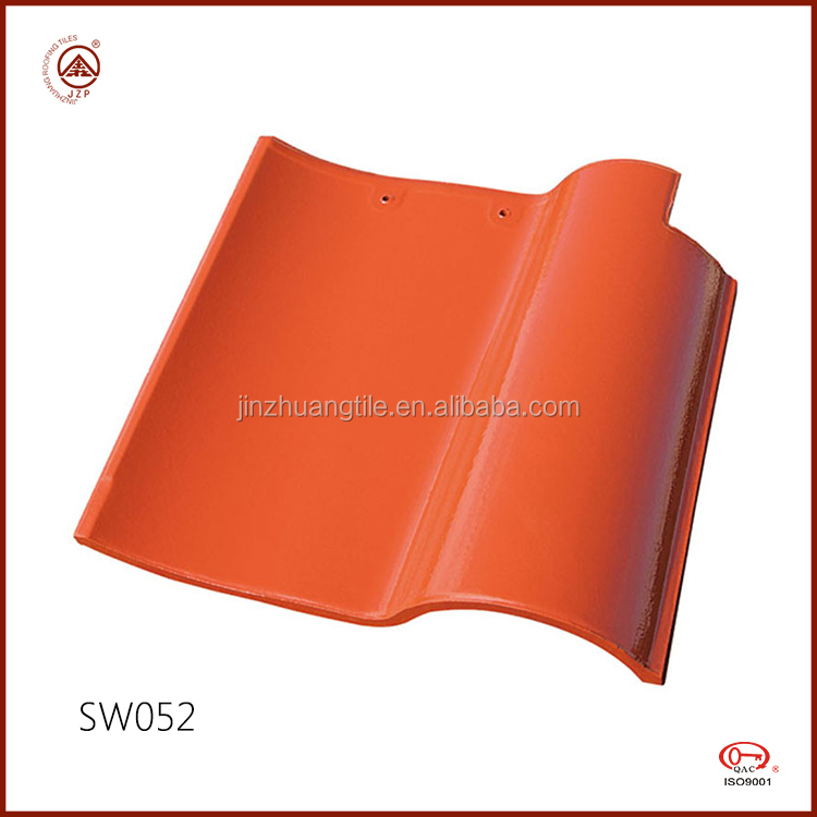 ISO Quality Clay Spanish Terracotta Red Roof Tile Glossy