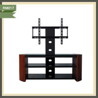 mechanical tv lift led table pine wood tv stand RM017