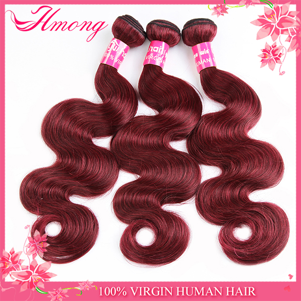 Indian virgin hair wet and wavy ombre colored indian human hair weave red indian remy hair weave