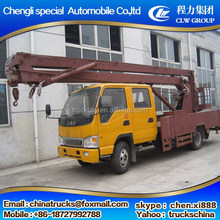 Aerial fork lift truck, yellow color, convenient,telescopic work platform, project machinery,GK12 high altitude work platform