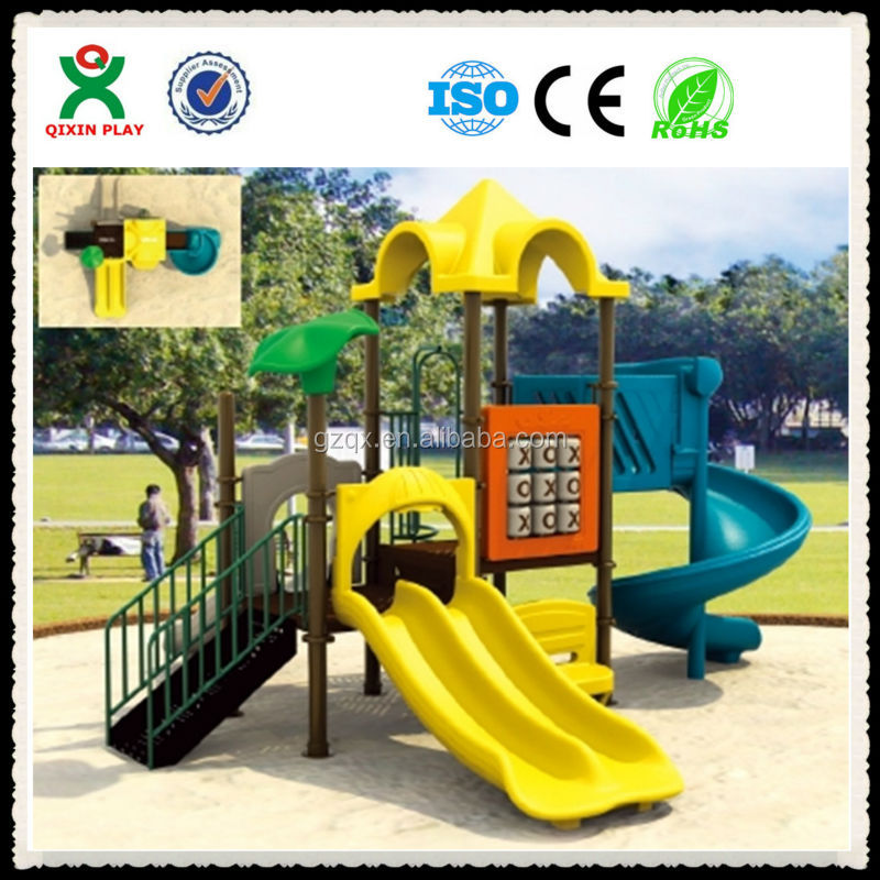 Outside children's play complex,children plastic garden house, childrens slide for kindergarten/QX-069E