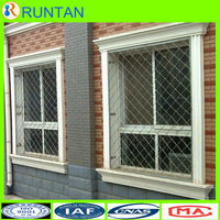 Anping Beautiful Grid Welded Wire Mesh Decorative Wrought Iron Window Guard