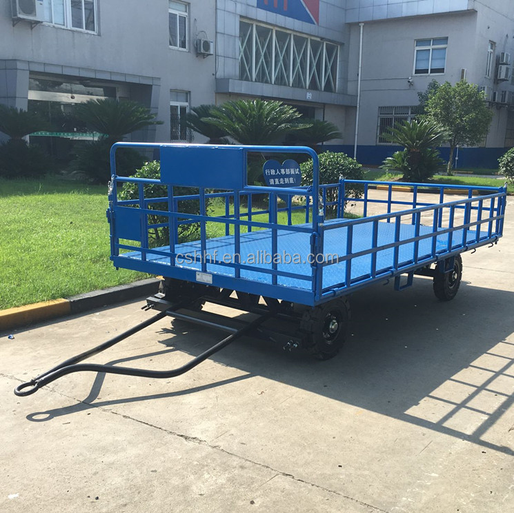 Airport 4 Rails Luggage Cart Baggage Trailer
