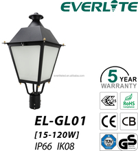 China made Everlite LED garden lamp 100W led street light post top light