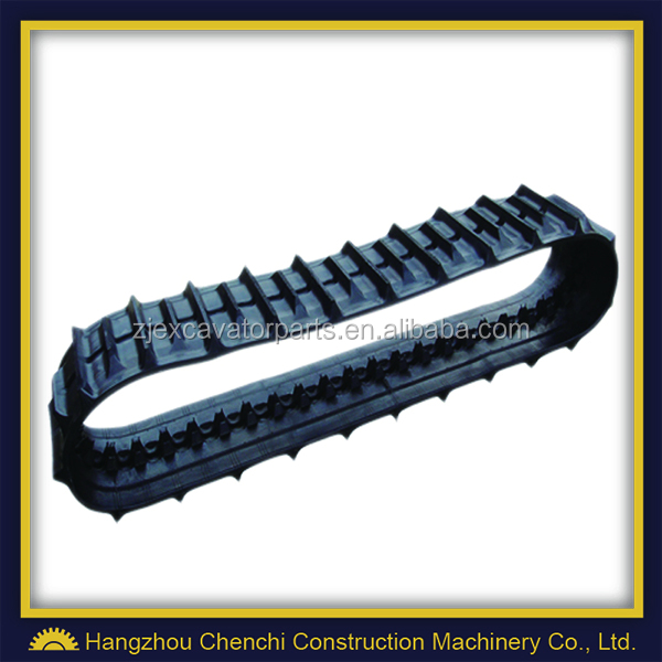 SH45 excavator mini rubber track crawler track in stock