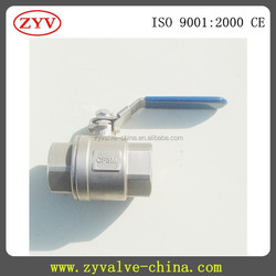 1000PSI 2PC stainless steel long stem ball valve