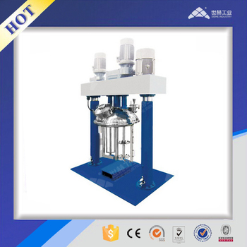 Multi function hydraulic lift three shaft mixer