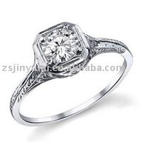 New design silver jewelry of CZ Antique Reproduction ring