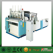 widely used semi automatic toilet roll paper tissue converting machine