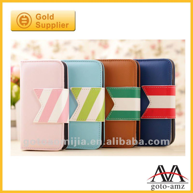 cute mobile leather case for Iphone4/4s