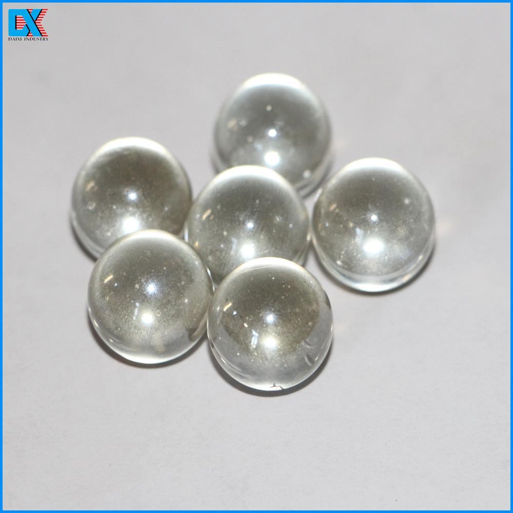 Gros décoratif clair boule de verre solide artisanat d
