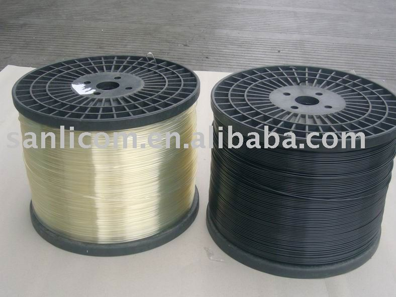 Shading net curtain holding polyester wire