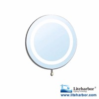 CE ETL UL 4W IP44 Rated Round Circle Lighting Makeup LED 30 x Magnifying Mirror with Light