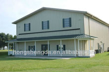 easy to install prefab steel structure house/building design