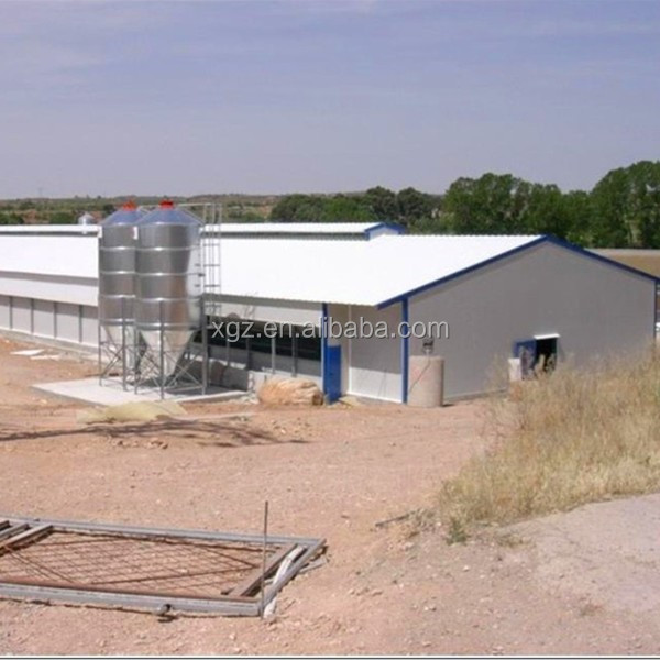 Prefab Steel Structure Frame Poultry Farm Broiler House