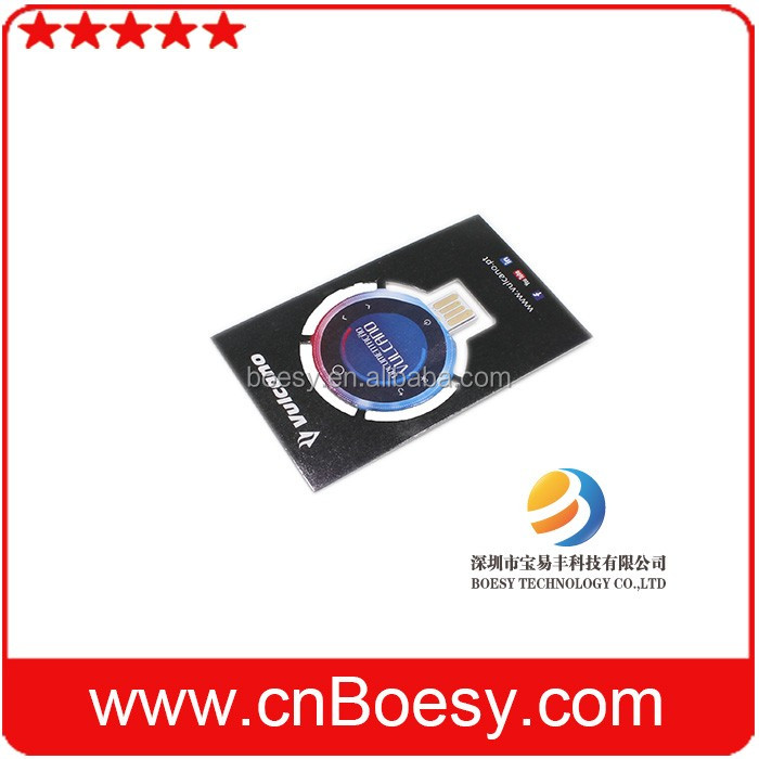 business card size 3.5x 2 inch Paper USB flash drive