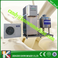 Milk pasteurizing and packing