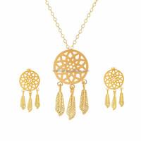 Dreamcatcher alibaba china supplier necklace earrings set jewelry Dream Catcher Pendant Necklace Women Earrings Wedding