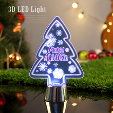 Multicolor changing led table mini lamp Christmas tree party decor gift 3d led light in night