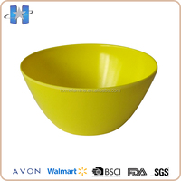 Customized size new plastic kitchen ware yellow round bowl