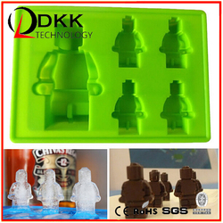 DKK-B018 Lego robot Silicone ice cube tray /silicone ice tray/silicone ice lattice