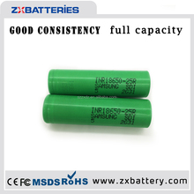 battery gb t18287-2000 3.7v li-ion for samsung sdi 18650 battery,samsung icr18650-24e 2400mah samsung 25r