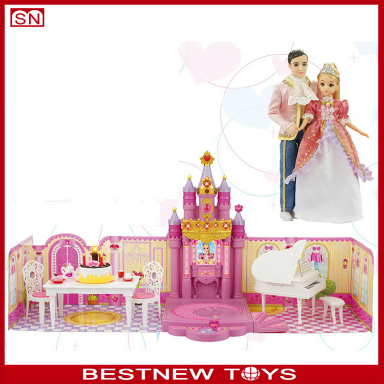 Prince and princess's birthday party doll house american girl toy doll for wholesale