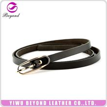 Wholesale durable skinny genuine leather belts lady