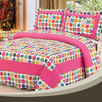 Wholesale custom printed floral christmas kids quilts patterns