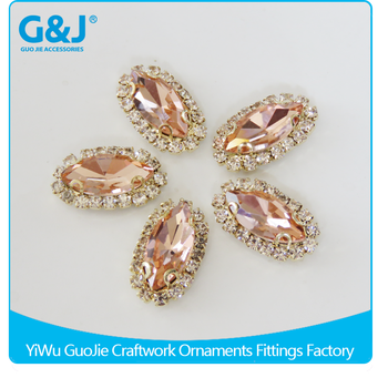 GuoJie brand wholesale china top quality chaton synthetic gems crystal rhinestone for garments accessories rhinestone