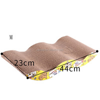 Super quality hot sale corrugated cat cardboard scratcher cat chew toy