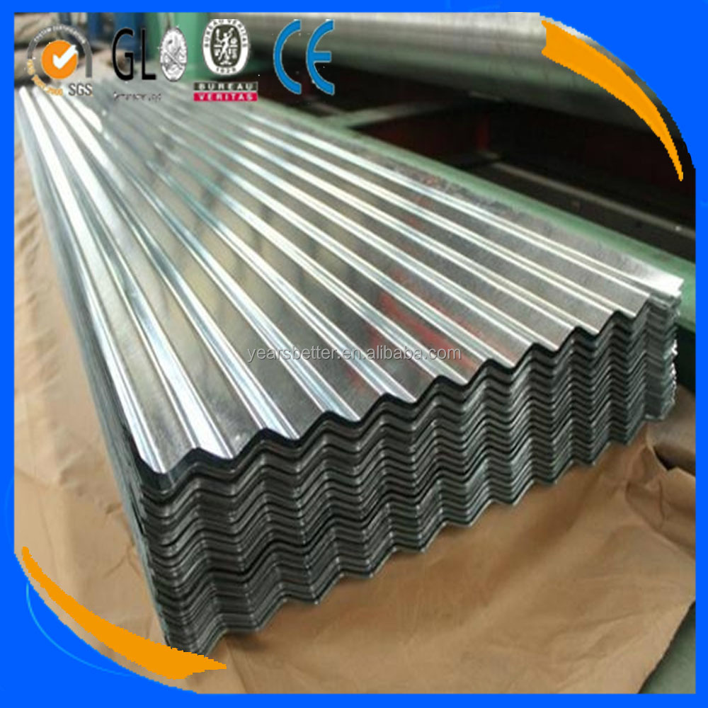 Galvanized Corrugated Steel Sheet / roofing metal sheet / Zinc coated steel sheet