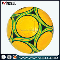 PVC machined stitch promotional soccer ball size weight