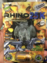 Rhino 25K bullet packing/Sex pills packaging/3D effect paper packing