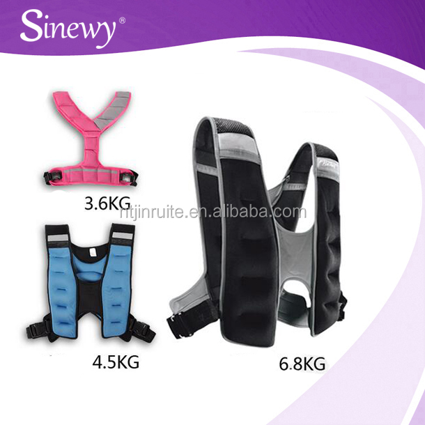 Adjustable crossfit 5-10kg gym weight vest,weihted jacket