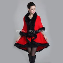 Autumn and winter in Europe and the new women's temperament big yards Knitting double cardigan coat fur pashmina shawl