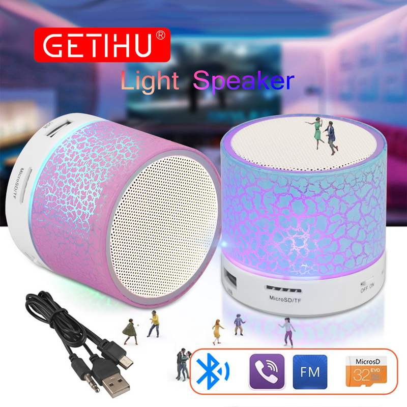 Portable Mini Speakers Wireless Hands Free LED Speaker With TF USB FM Sound Music