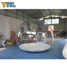 Promotional cheap igloo inflatable clear tent for camping/inflatable transparent bubble tent for camping