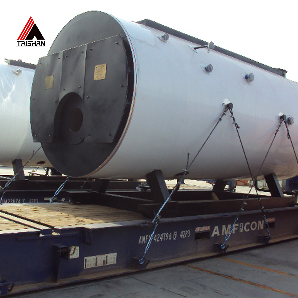 Oil/gas corrugated furnace 8000kg/hr steam boiler for mixing plant industry