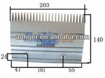 Escalator 24-teeth aluminium comb plate GAA453BM 203*140*101 used for Otis