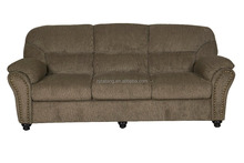 classic design livingroom 3 SEATER SAGE COLOR CHENILLE FABRIC SOFA