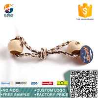 Hot sale double-ball style rope dog toy pet toy
